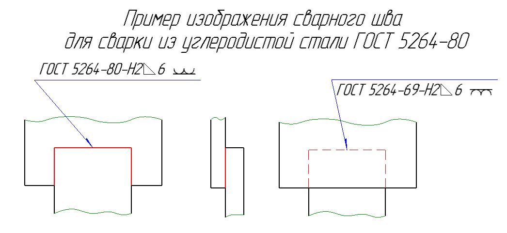сварка - фрагмент чертежа из задания